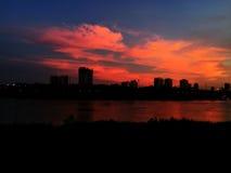 Céu no crepúsculo Fotografia de Stock Royalty Free