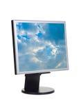 Céu no ecrã de computador fotografia de stock