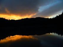 Céu no espelho Imagem de Stock Royalty Free