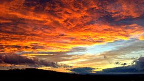 Céu no fogo Fotos de Stock