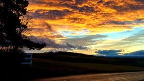 Céu no fogo Imagens de Stock Royalty Free