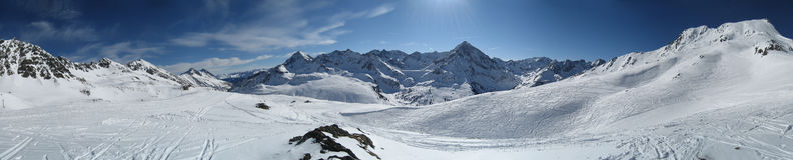 Céu no inverno em Tirol/Tirol Imagens de Stock