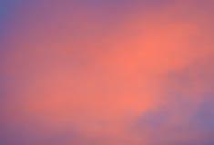 Céu no por do sol Imagens de Stock Royalty Free