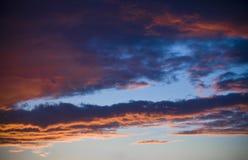 Céu no por do sol Foto de Stock Royalty Free