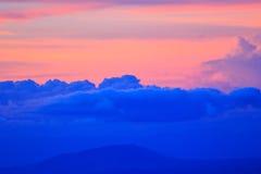 Céu no tempo do por do sol Fotos de Stock Royalty Free