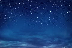 Céu nocturno com estrelas Imagem de Stock