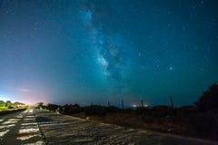 Céu nocturno completamente das estrelas Fotos de Stock