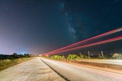 Céu nocturno completamente das estrelas Fotografia de Stock
