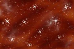 Céu nocturno de desejo brilhante da estrela   ilustração stock