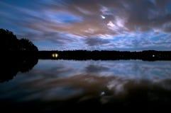 Céu nocturno dramático Foto de Stock