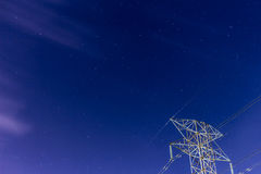 Céu nocturno estrelado Fotos de Stock
