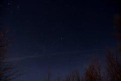 Céu nocturno estrelado Fotografia de Stock