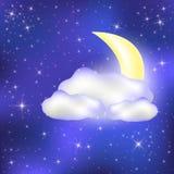 Céu noturno ilustração do vetor
