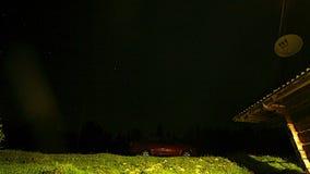 Céu noturno com estrelas vídeos de arquivo