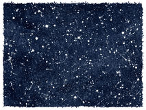 Céu noturno da aquarela com estrelas e bordas ásperas Foto de Stock Royalty Free