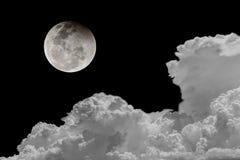 Céu noturno dos fundos da Lua cheia Imagens de Stock