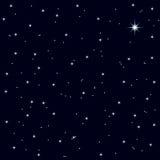 Céu noturno estrelado da noite de Natal ilustração stock