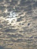 Céu nublado fotografia de stock