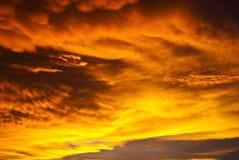 Céu perigoso Fotos de Stock Royalty Free