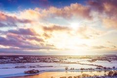 Céu pitoresco com nuvens Imagem de Stock