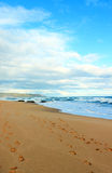 Céu, praia e oceano Imagem de Stock
