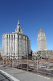 Céu-raspadores de Mahattan New York City, EUA fotografia de stock royalty free