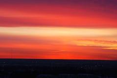 Céu rosado e nuvens da manhã fotos de stock royalty free