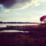 Céu sobre a água Fotografia de Stock Royalty Free