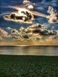 Céu sobre a praia em agradável Fotos de Stock