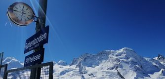 Céu suíço da estação de Rotenboden fotos de stock royalty free