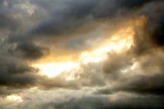 Céu temperamental foto de stock