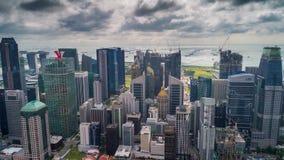Céu tormentoso aéreo de Singapura Timelapse filme