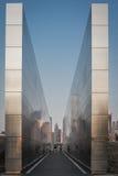 Céu vazio: New-jersey memorial do 11 de setembro fotografia de stock royalty free