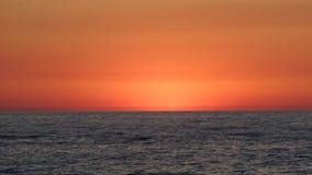 Céu vermelho e o mar Fotos de Stock Royalty Free