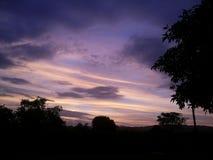 Céu violeta Fotos de Stock Royalty Free