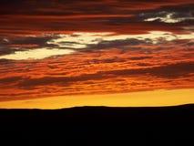Céus alaranjados Imagens de Stock