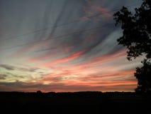 Céus bonitos no pôr do sol Foto de Stock Royalty Free