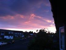 Céus cor-de-rosa Fotografia de Stock Royalty Free