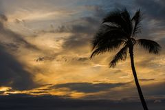 Céus de Havaí imagem de stock