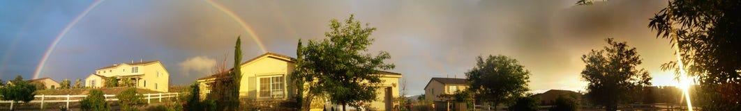 Céus do arco-íris Imagem de Stock