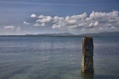 Céus e águas bonitos Foto de Stock