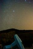 Céus estrelados na noite Foto de Stock