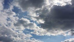 Céus nebulosos Foto de Stock