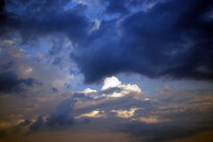 Céus turbulentos Foto de Stock