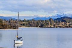 Cênico bonito da importação de Nova Zelândia da ilha sul do anau do te do lago foto de stock royalty free