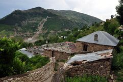 Cërnalevë village, northeastern Albania Royalty Free Stock Images