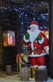 Círculo ártico de Napapiiri, Rovaniemi Finlandia Santa Claus Village imagens de stock