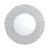 círculo 3D no teste padrão do labirinto Foto de Stock Royalty Free