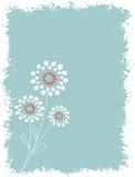 Círculo abstracto floral con el fondo de Grunge Fotografía de archivo libre de regalías
