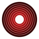 Círculo abstracto rojo ilustración del vector